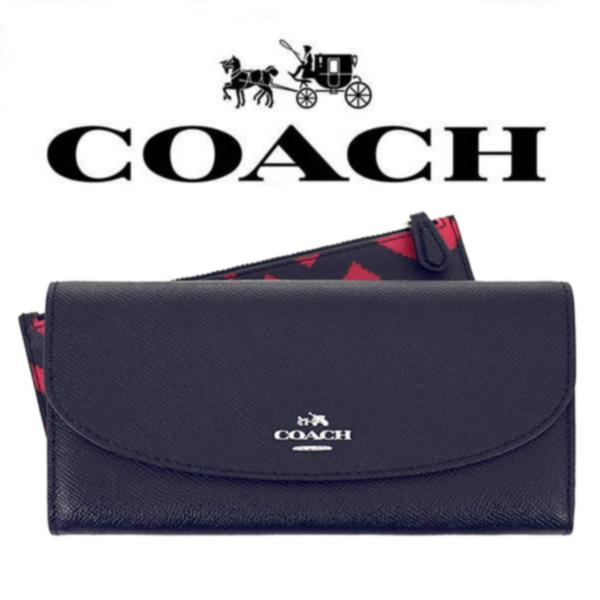 【送料無料】F23453 SVMRT コーチ COACH 財布 長財布 レッド×ブラックマルチ レザー レディース アウトレット品