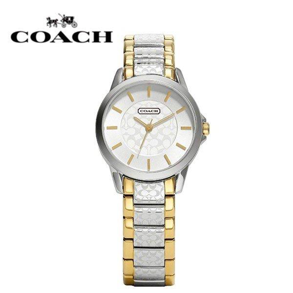 【送料無料】14501610 コーチ COACH 時計 レディース クラシック シグネチャー シルバー×ゴールド 腕時計 純正BOX付 アウトレット品