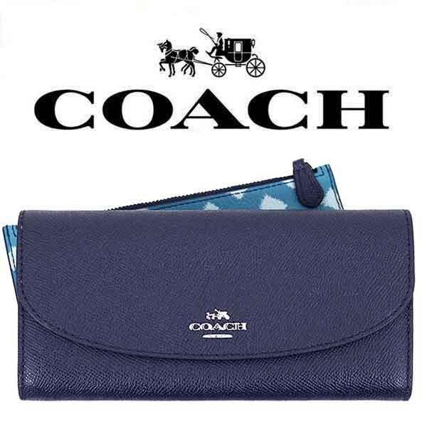 【送料無料】F23453 SVBLM コーチ COACH ブルー×マルチカラー ポーチ クロスグレーン レディース アウトレット品