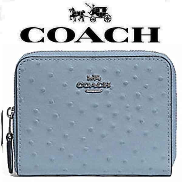 【送料無料】F67606 SV/CF コーチ COACH 財布 二つ折り財布 コーンフラワー ジップ レザー レディース アウトレット品