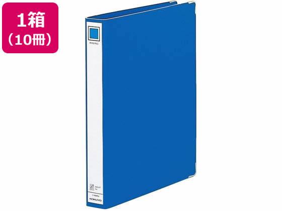 【税込1万円以上で送料無料】 コクヨ/リングファイル ボード表紙 A4タテ 4穴 内径27mm 青 10冊