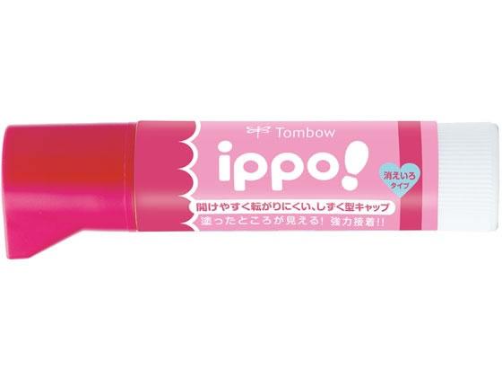 トンボ鉛筆/ippo!固形のり(消えいろ) 10g ピンク