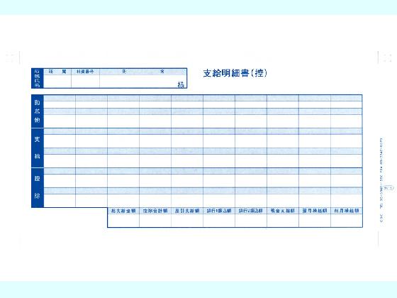 OBC/密封式支給明細書 6016 300枚/6016