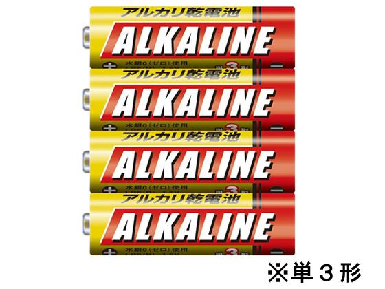 税込1万円以上で送料無料 オンラインショップ 三菱 アルカリ乾電池単3 4S LR6R 有名な 4本