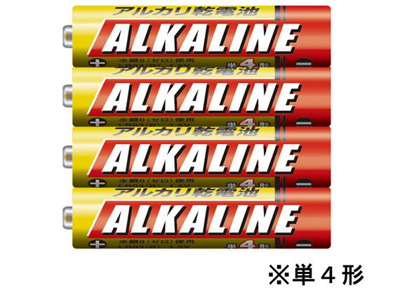 税込1万円以上で送料無料 正規品 限定特価 三菱 アルカリ乾電池単4 4S LR03R 4本