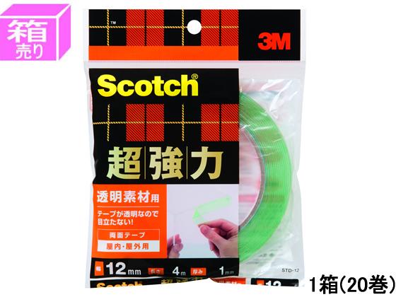 3M/スコッチ超強力両面テープ 幅12mm×4m 20巻/STD-12