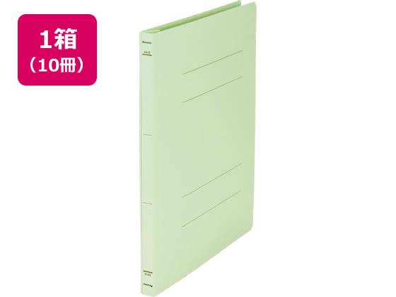 【税込1万円以上で送料無料】 Forestway/フラットファイルライト A4タテ とじ厚15mm 緑 10冊