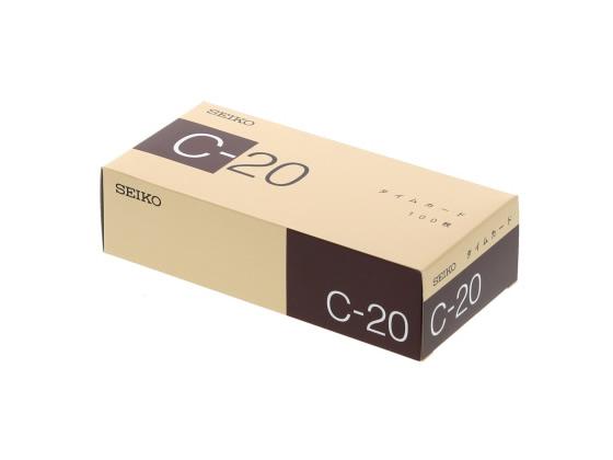 税込1万円以上で送料無料 セイコー QR用タイムカード サービス C-20カード 100枚入 ストアー