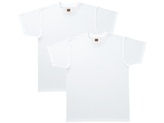 【税込1万円以上で送料無料】 GUNZE/紳士 G.T.HAWKINS Tシャツ ホワイト2枚組 LL/HK10132