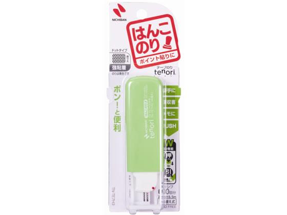 日本メーカー新品 時間指定不可 税込1万円以上で送料無料 ニチバン テープのりtenoriはんこのり グリーン TN-TE7H3