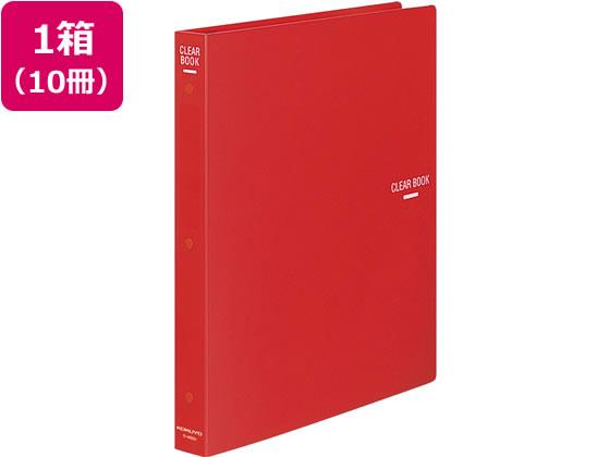 コクヨ/替紙式クリヤーブック 赤 10冊/ラ-460R