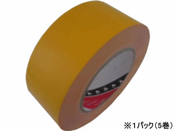 寺岡製作所/脱塩ビ ラインテープ 50mm×50m 黄 5巻/No.365