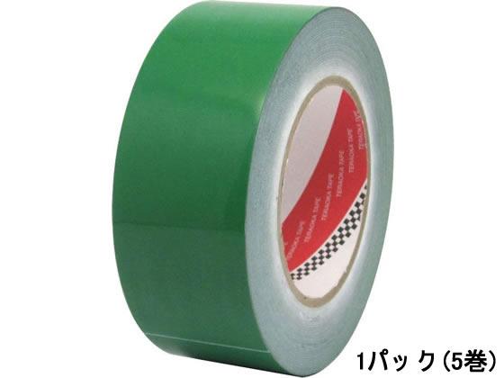 寺岡製作所/脱塩ビ ラインテープ 50mm×50m 緑 5巻/No.365