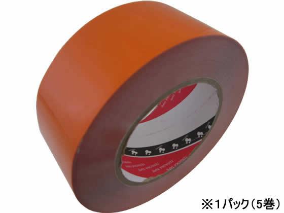 寺岡製作所/脱塩ビ ラインテープ50mm×50mオレンジ 5巻/No.365