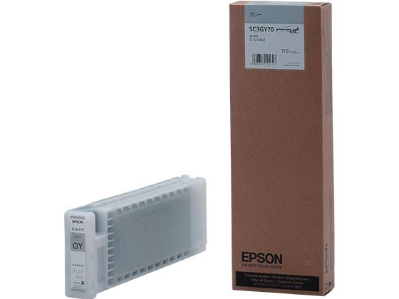 エプソン/インクカートリッジ グレー/SC3GY70
