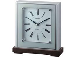 リズム時計/シチズン木枠電波置時計 マリアージュ706/4RY706-003