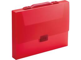 【税込1万円以上で送料無料】 キングジム/キャリングケース TeFit(透明) A4 収納幅40mm 赤