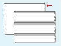 コンピュータ連続用紙 15×11白紙3枚複写 1000セット