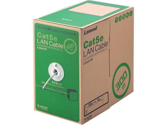 エレコム/LANケーブル CAT5E ライトグレー 300m/LD-CT2/LG300/RS