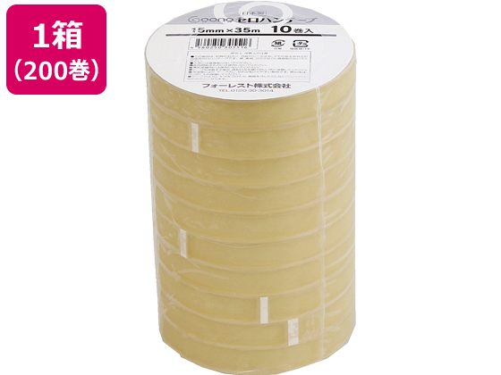 Goono/セロハンテープ 15mm×35m 200巻