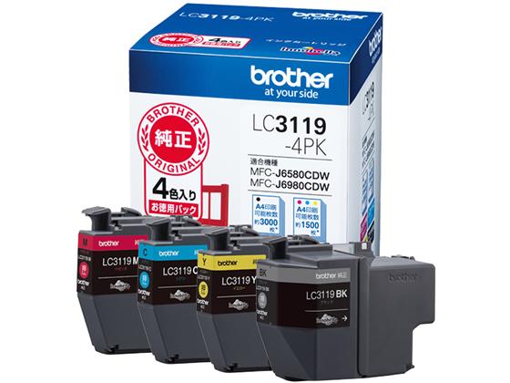 ブラザー/インクカートリッジ 大容量4色パック/LC3119-4PK