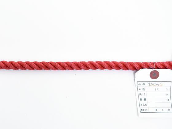 紺屋商事/PEロープ 12mm×200m 赤/60011138