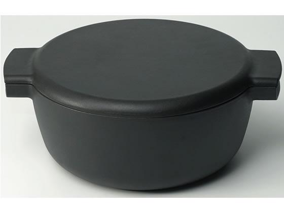 ヘスチアサプライ/ovject 鋳物 琺瑯 両手鍋 深型 マットブラック