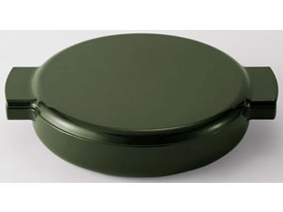 ヘスチアサプライ/ovject 鋳物 琺瑯 両手鍋 浅型 グリーン