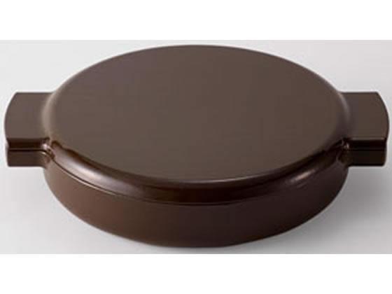 ヘスチアサプライ/ovject 鋳物 琺瑯 両手鍋 浅型 ブラウン