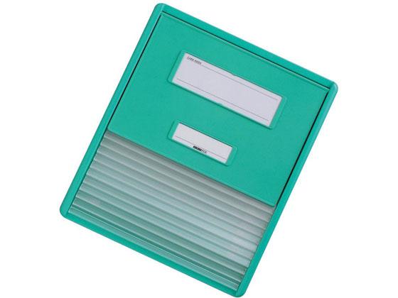 リヒトラブ/カラーカードインデックス A4 11枚 グリーン/HC111C-3