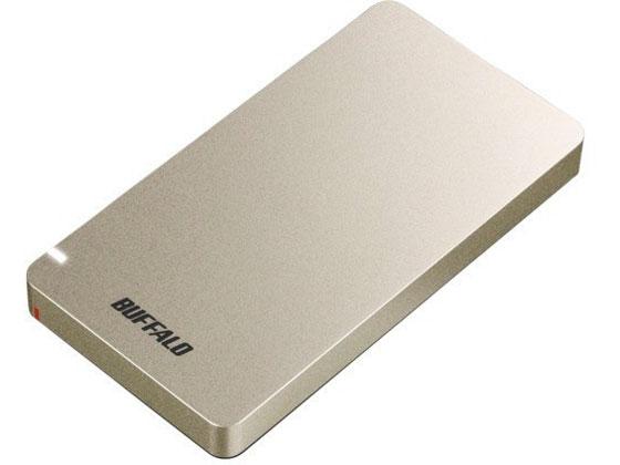 バッファロー/USB3.2ポータブルSSD480GBゴールド/SSD-PGM480U3-G