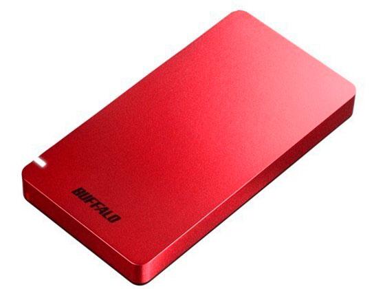 バッファロー/USB3.2ポータブルSSD 480GBレッド/SSD-PGM480U3-R
