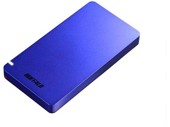 バッファロー/USB3.2ポータブルSSD 960GBブルー/SSD-PGM960U3-L