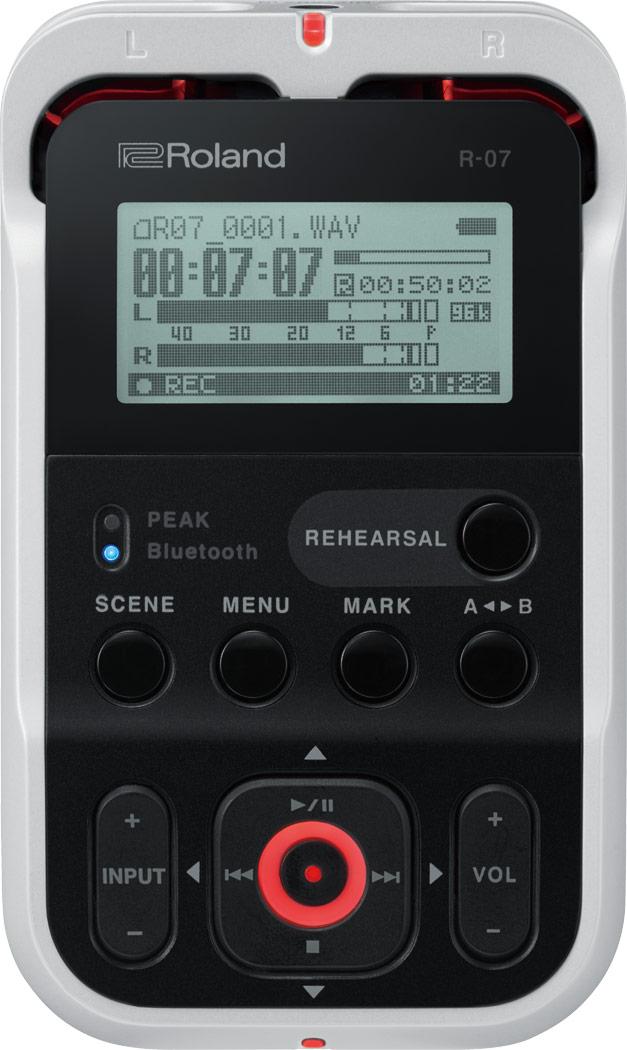 ROLAND R-07 WH ローランド ハンディレコーダーオーディオインターフェイス機能付き