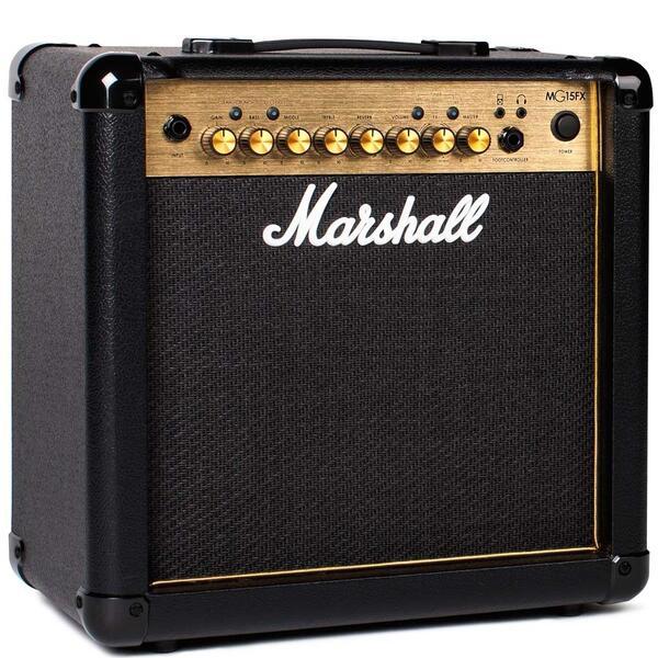 おトク マーシャルアンプがあなたの自宅練習環境に マーシャルを象徴するゴールドパネルが復活 Marshall MG15FX GOLD 発売モデル MGシリーズ ギターアンプ マーシャル 15W ゴールド