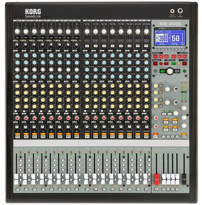 クリエイティブなミキシングが誰にでも出来るハイブリッド アナログミニコンソール KORG MW-2408 Hybrid Analog Digital 24チャンネル ハイブリッド ミキサー Mixer アナログ ミニコンソール コルグ 爆安 本店