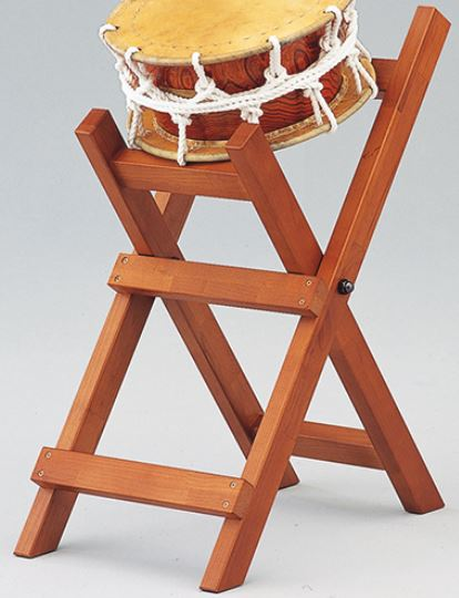 SUZUKI 附締太鼓用X型立奏台 1尺2寸<スズキ 附締太鼓用太鼓台>【商品番号10009555 】