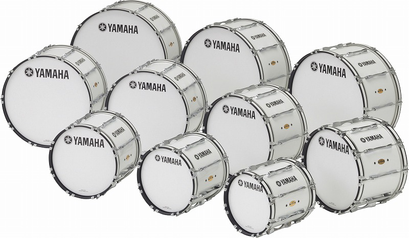 【送料無料】<BR>YAMAHA MARCHING BASS DRUMS<BR>MB-8300 シリーズ ~FIELD-CORPS Series~<BR>MB-8328WH<BR><ヤマハ マーチング バスドラム><BR>【商品番号 10011290 】
