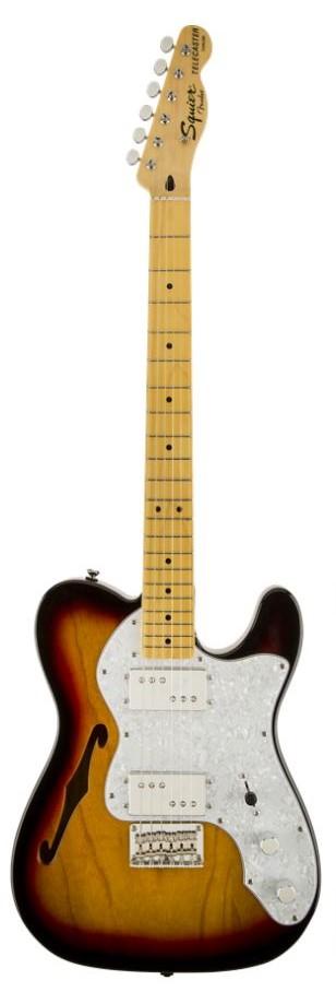 Squier Vintage Modified '72 Tele Thinline3-Color Sunburst<スクワイヤ テレキャスター>【商品番号 10008676 】【店頭受取対応商品】