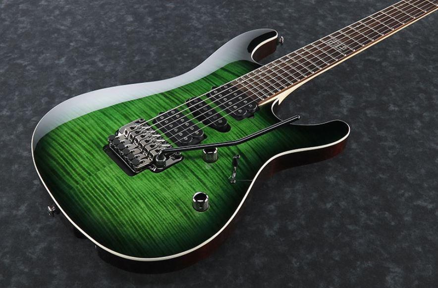 Ibanez KIKO10P Transparent Green Sunburst(TGT) Kiko Loureiro<アイバニーズ エレキギター キコ・ルーレイロ>【商品番号 10009870 】【店頭受取対応商品】