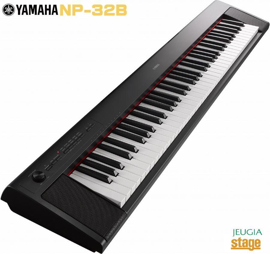 <title>軽量スリムボディに リアルなピアノ音とタッチのアコースティックピアノをイメージした電子キーボード YAMAHA piaggero NP-32B ヤマハ ピアジェーロ キーボード 公式ストア ブラック 黒</title>