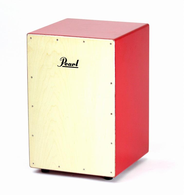 Pearl PCJ-CVJ/SC Junior COLOR BOX CAJON w/Soft Cases Redパール カラー ボックス カホン ジュニア レッド<BR>【店頭受取対応商品】