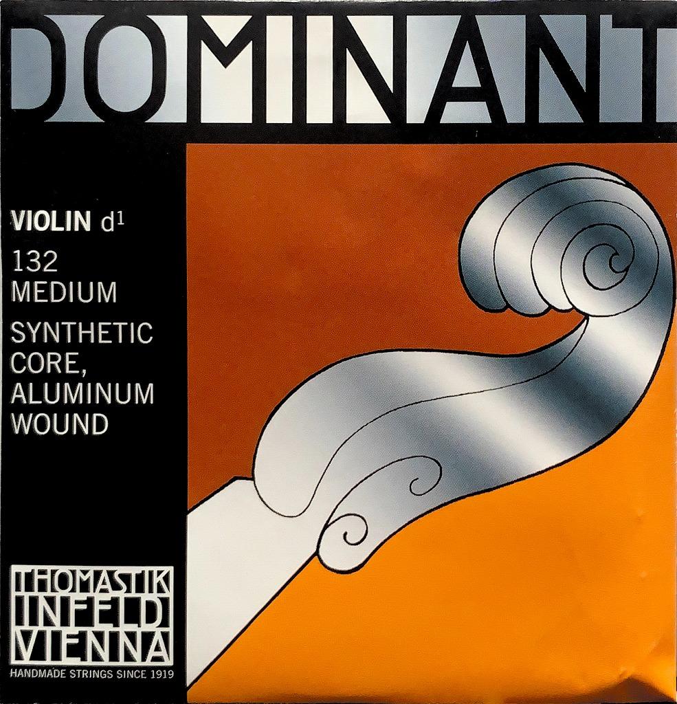 圧倒的支持を得る信頼のプランド DOMINANT バイオリン弦 D線ドミナント 132 卓出 ※アウトレット品 シンセティックコア 単品
