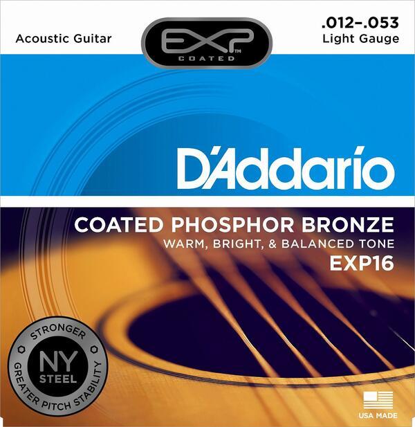 【まとめ買いでお得】Daddario<ダダリオ>アコースティックギター弦 EXP16 5セット【店頭受取対応商品】