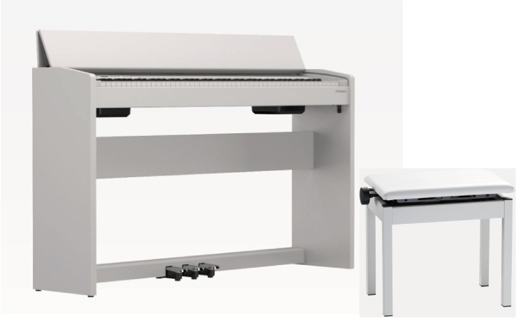 【お客様組立て品】Roland F-140R WH セットローランド デジタルピアノ【高低自在椅子BNC-05-WH付き】