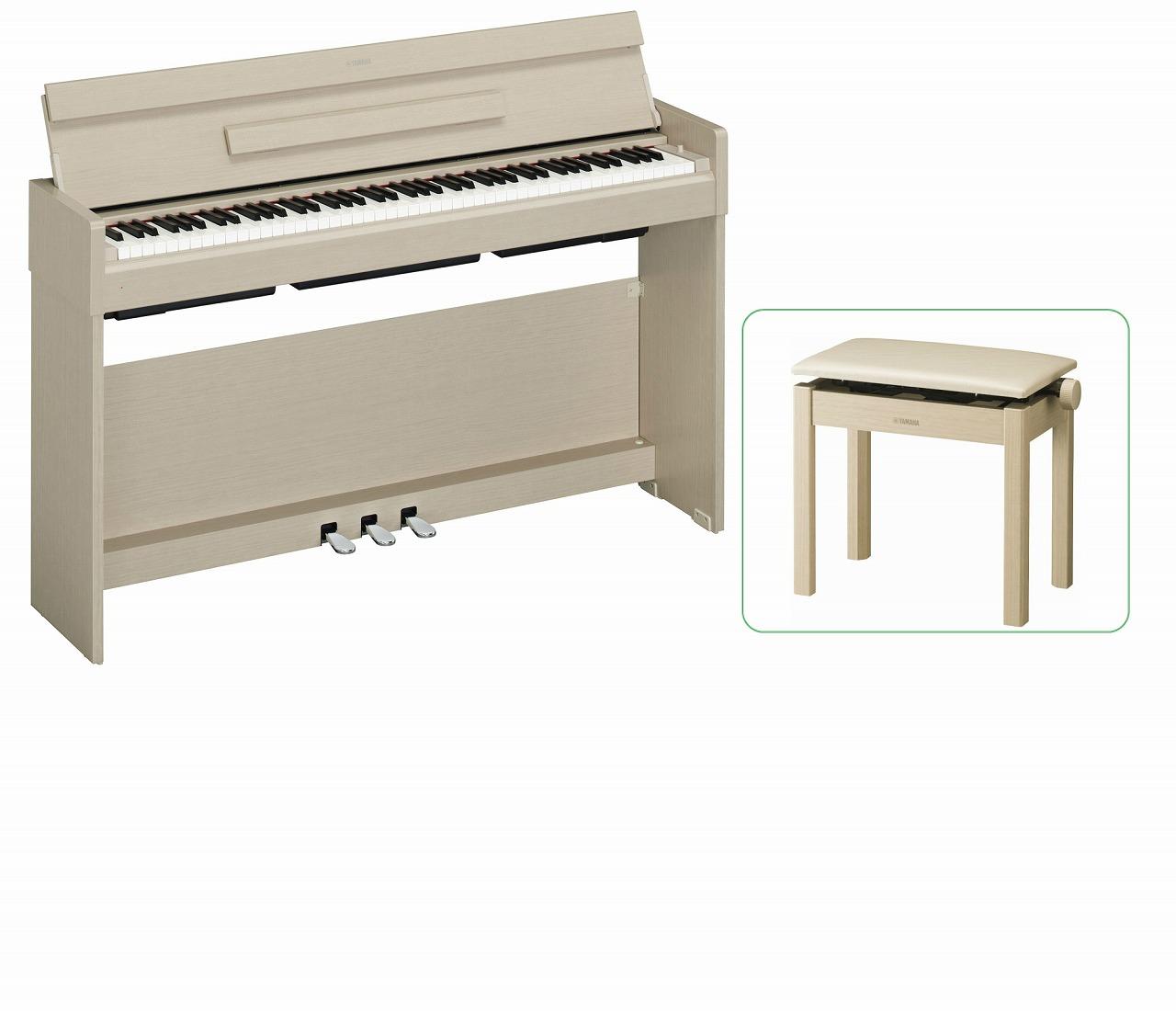 【お客様組立て品】【専用高低椅子付セット】YAMAHA ARIUS YDP-S34 WA ヤマハ 電子ピアノ ホワイトアッシュ