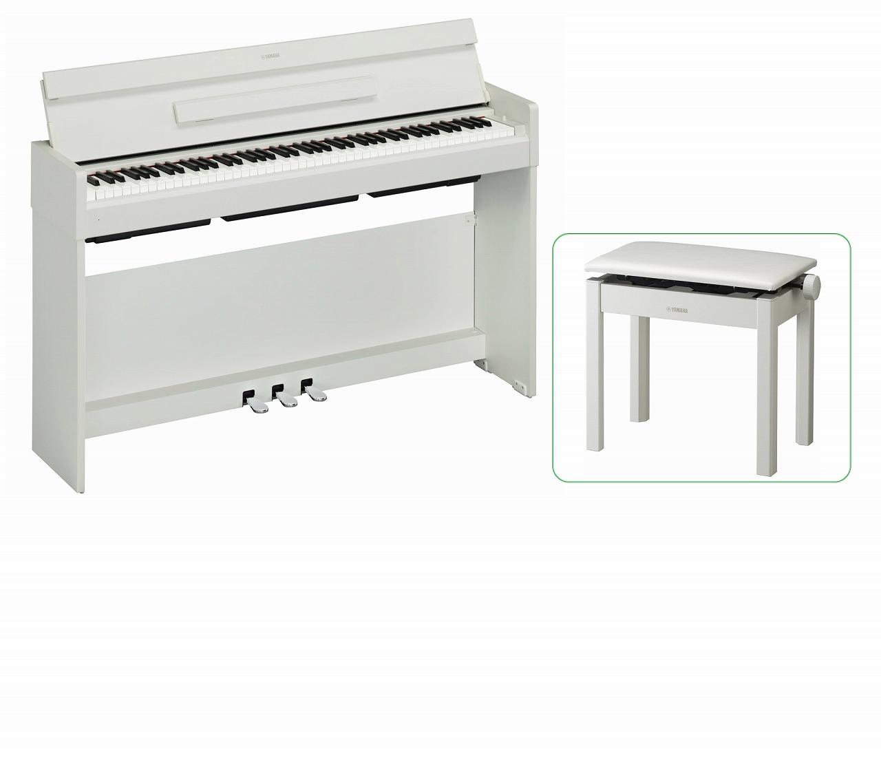 【お客様組立て品】【専用高低椅子付セット】YAMAHA ARIUS YDP-S34 WH ヤマハ 電子ピアノ ホワイトウッド