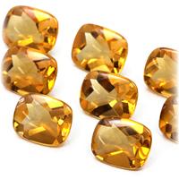 (之前和之后浅黄色的顶级 7x5mm) 降低率少石茶晶