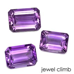 【ルビー、サファイア、エメラルド、ダイヤモンドなど高品質宝石は当店へ】 (ステップ14x10mm前後)アメシストのリーズナブル 宝石 ルース ストーン