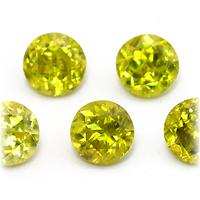 ルビー サファイア 人気ブランド 在庫一掃売り切りセール エメラルド ダイヤモンドなど高品質宝石は当店へ ラウンド4.2mm前後 宝石 イエロースフェーンのリーズナブル ストーン ルース